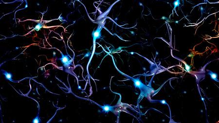 nervios: Las c�lulas del cerebro y del Espacio Profundo Foto de archivo