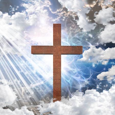Cross in light Stock Photo