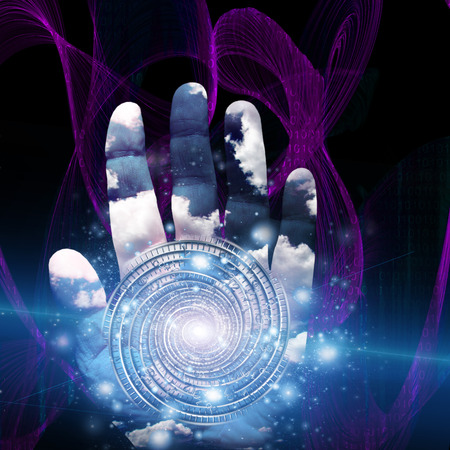 wizardry: Hand with swirling form