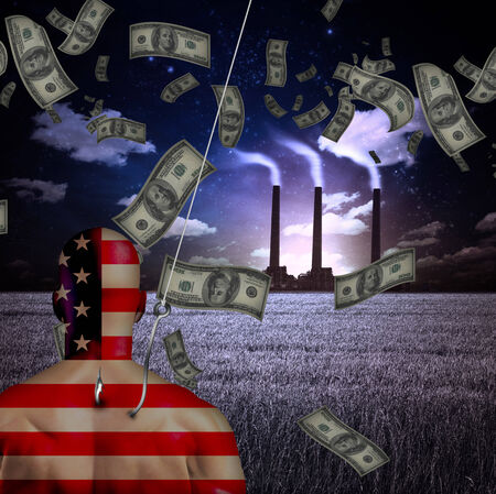 trapped: American man trapped before factory with money