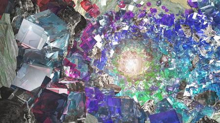 primordial: Multihued Crystal cavern Stock Photo