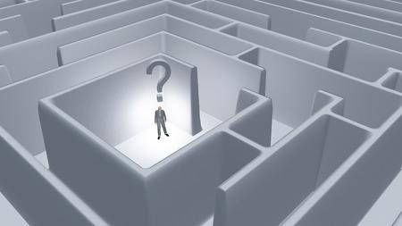 Question Maze Фото со стока