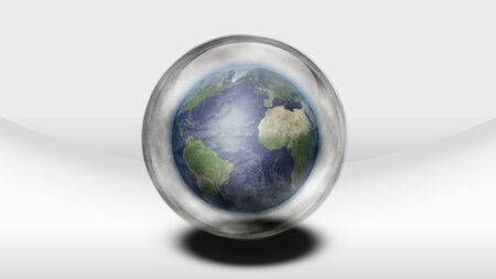foretell: Earth inside glass sphere