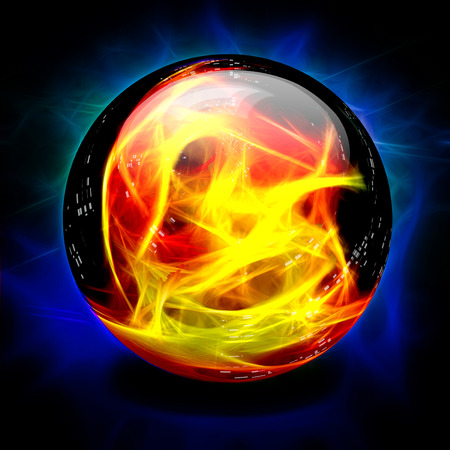 Crystal Ball Fire Stock Photo - 28058383
