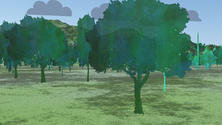 Two Dimensional Trees in Landscape Imagens - 28058397