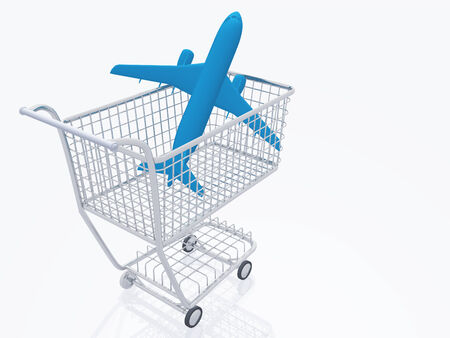 trolly: Aircraft in shopping trolly