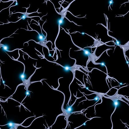 Naadloos Herhaalbaar hersencellen Patroon Stockfoto