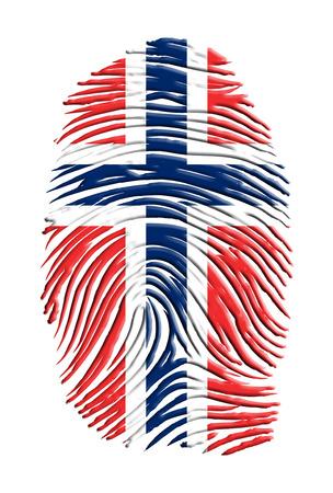 norway flag: Norway flag finger print