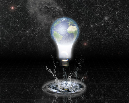Earth bulb and Splash with Stars photo