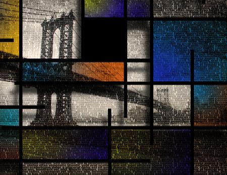 Modern Art Inspired Landscape NYC 版權商用圖片 - 28172634