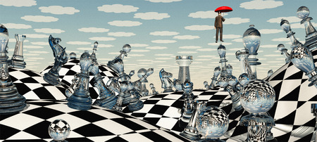 fantasy: Surreal Chess Landscape