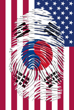 South Korea USA Identity photo