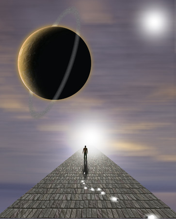 concept magical universe: Mans Journey of the Soul