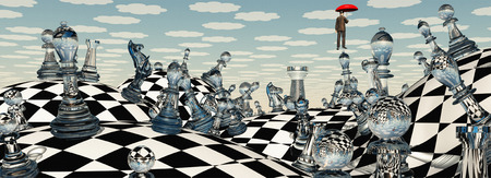 Surreal Chess Landscape photo