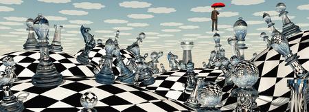 art piece: Surreal Chess Landscape