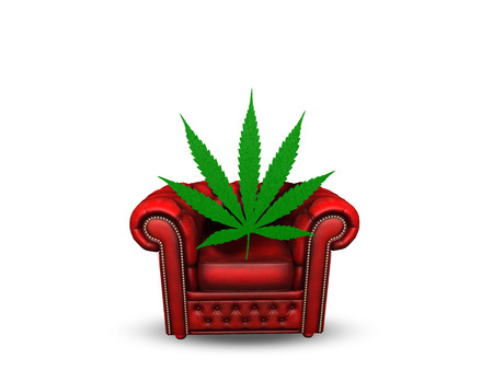 cushioned: Chair with Marijuana Leaf