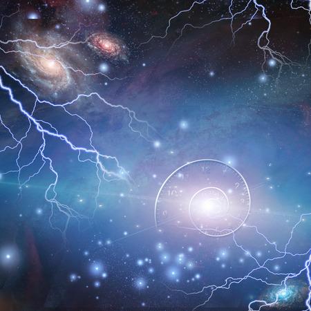 Zeit-Raum-Quanten-Teilchen Standard-Bild - 28560572