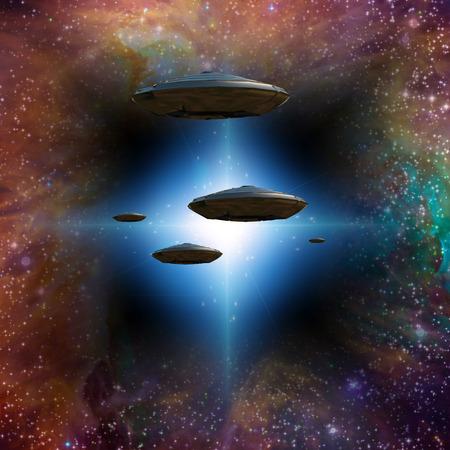 hyperspace: Starship senter through stargate