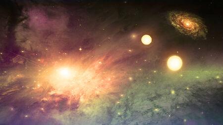 vast: Deep space scene Stock Photo
