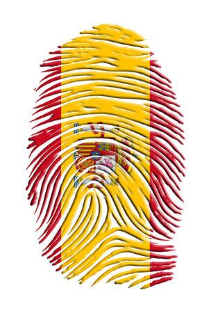 Spain Flag Finger Print photo