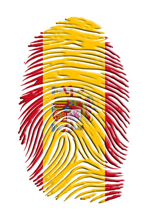 Spain Flag Finger Print
