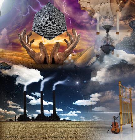 energy work: Surreal Composition Stock Photo