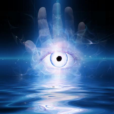 rosicrucian: Eye abstract  Stock Photo