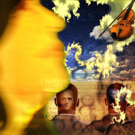 stradivarius: Musical Abstract Stock Photo