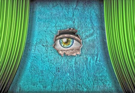 ojos verdes: Vidente con un ojo