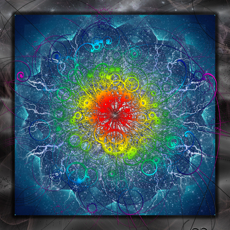 powerful aura: Abstract Background