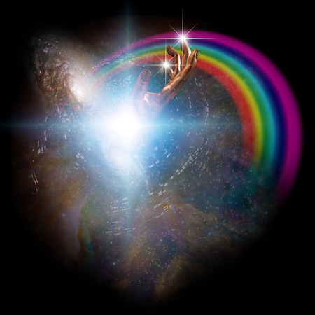 concept magical universe: Spiritual or science background