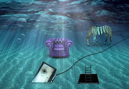 Fantasy Underwater scene photo