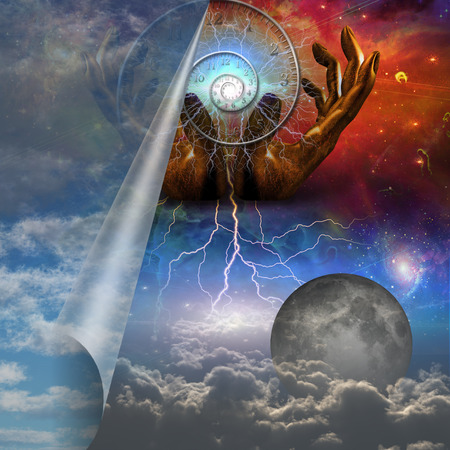 Time unfolds at the creation