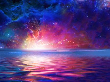 Surrealistische zee Stockfoto