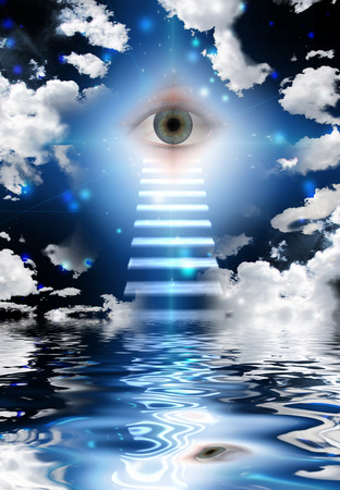 mystery of faith: Stairs lead to eye