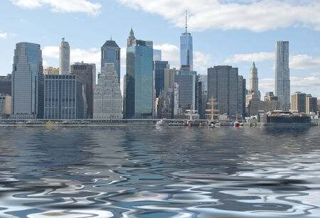 clouding: Fantasy New York City with World Trade Center Freedom Tower