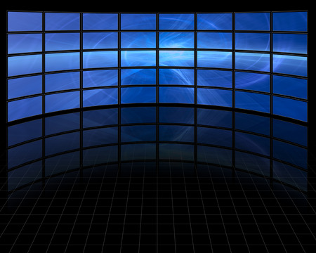 video wall: Abstract on Large Set of Screens