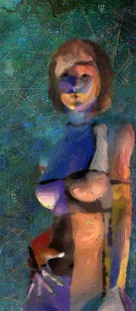 Mujer pintada  Foto de archivo - 30499525
