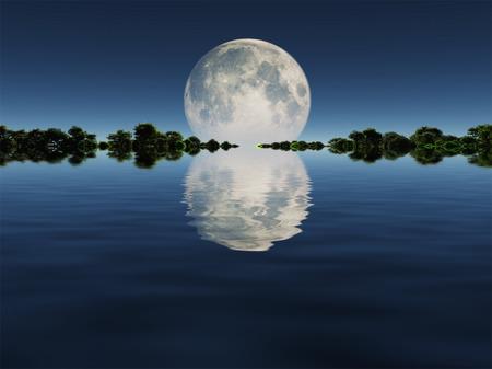 물 위에 문라이즈