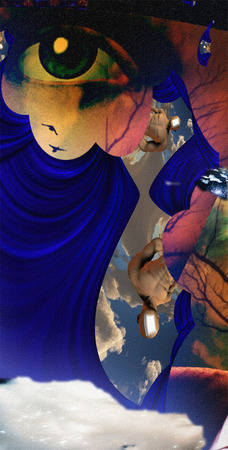 mystique: Surreal abstract with human face