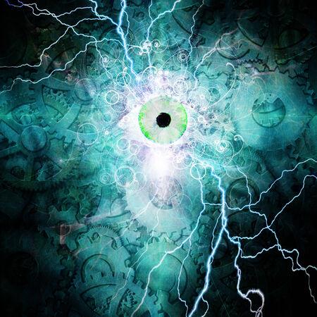 cybernetic: Eye and gears design