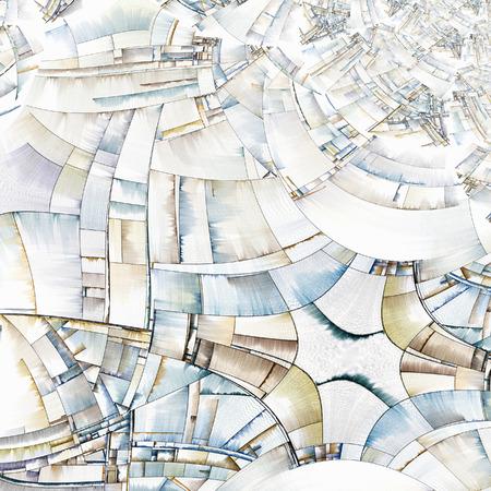 arte optico: Con reminiscencias del arte abstracto de los bloques de la ciudad
