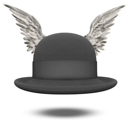bowler: Bowler Hat with Wings