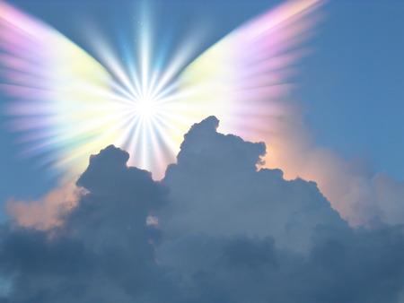 하늘에서 초자연적 인 존재 스톡 콘텐츠
