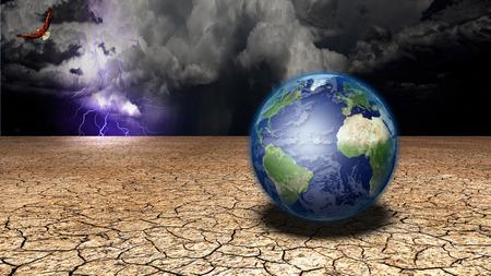 Earth in desert