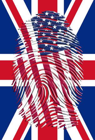 USA UK Finger Print photo