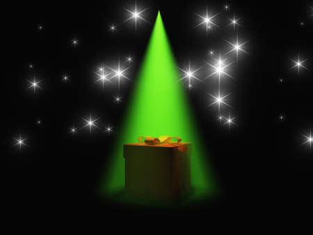 revealed: Gift box revealed under light