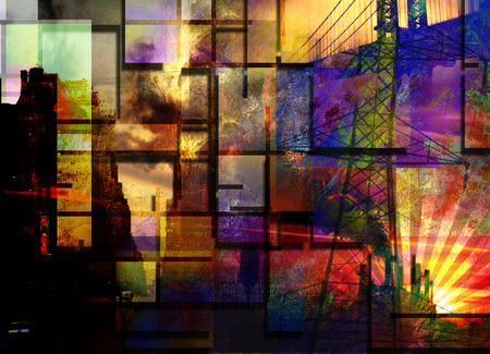 city background: City Industrial Abstract Stock Photo