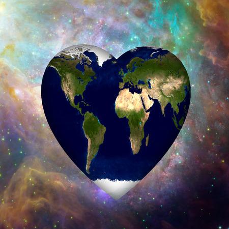 Earth Heart Cosmos Banco de Imagens