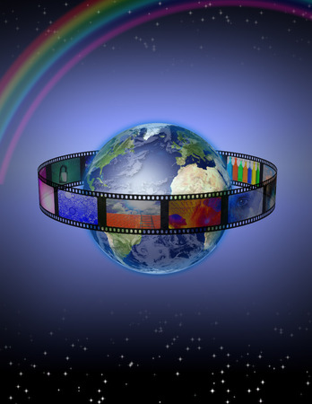 rainbow slide: Photograpic World Stock Photo